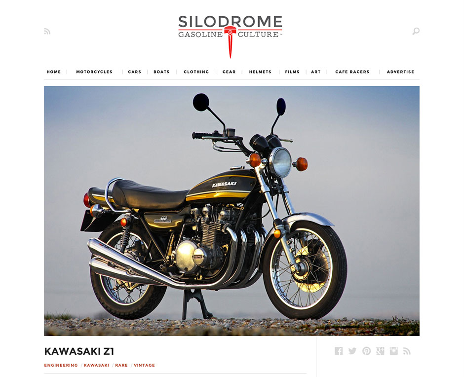 Silodrome feature the Paul Brace Proper Bikes Kawasaki Z1A 900