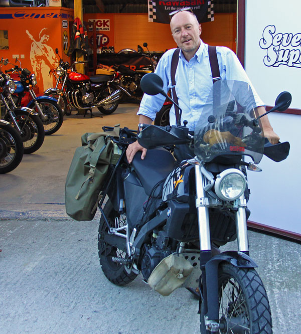 Adventure motorcycle handbook writer and travel legend, Chris Scott visits Proper Bikes