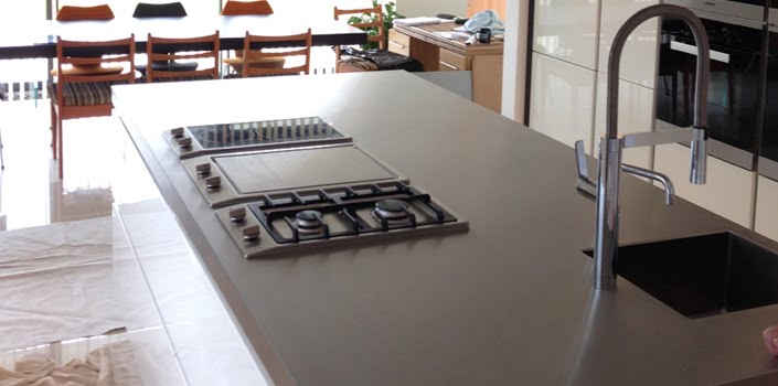 Amazing Stainless Steel Kitchen Island Worktop With Gas Hob And Integral Sink