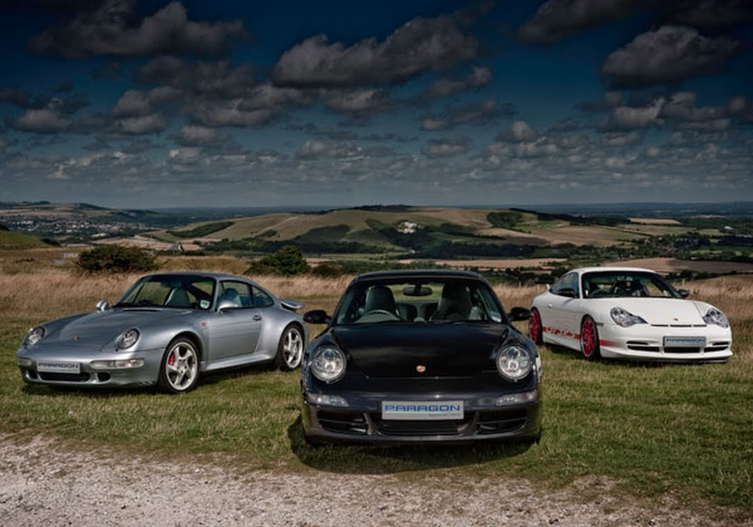 Different porsche models