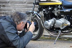 Jim Patten photographs the Paul Brace, Proper Bikes special kawasaki Z1A for Classic Motorcycle Mechanics