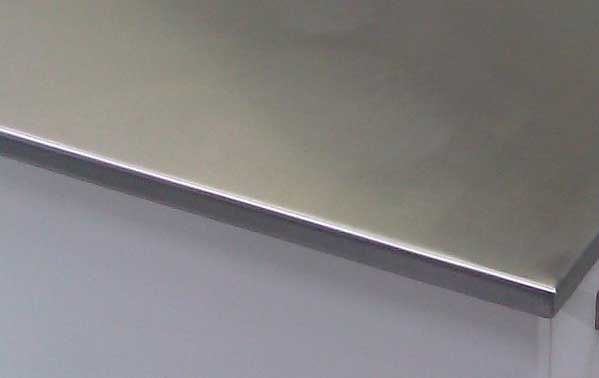 Stainless Steel For The Square Edged Worktops Sector